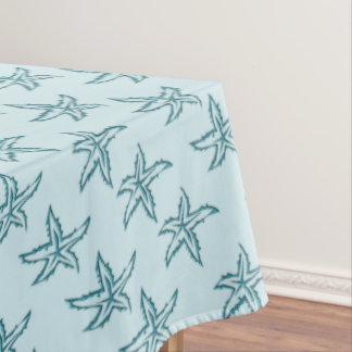 Teal Starfish Tablecloth