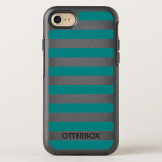 Teal stripe OtterBox symmetry iPhone 8/7 case