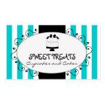 Teal Stripes Cupcake Cake Bakery