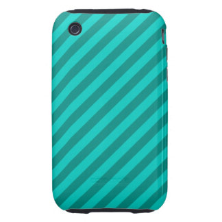 Teal Stripes. iPhone 3 Tough Cases