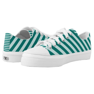 Teal Stripes Low Tops