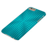 Teal Stripes Pattern iPhone 6 Plus Case Barely There iPhone 6 Plus Case