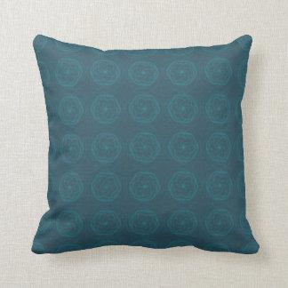 Teal Swirl Cushion