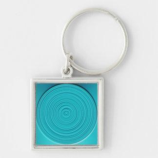 Teal Swirl Key Chain