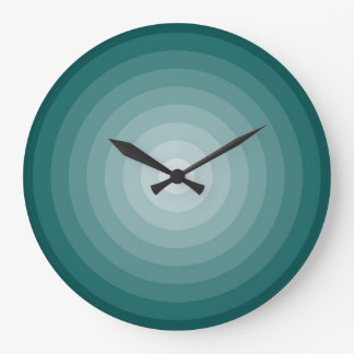 Teal Target Large Wall Clock by Janz