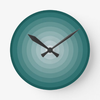 Teal Target Wall Clock Medium