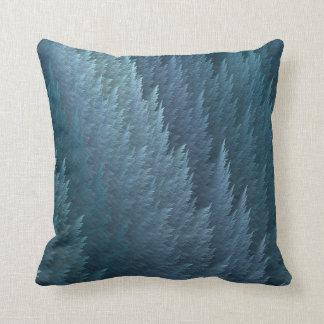Teal Tartan Feather Pattern Design Throw Pillow