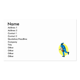 Teal Throwing Player Business Card