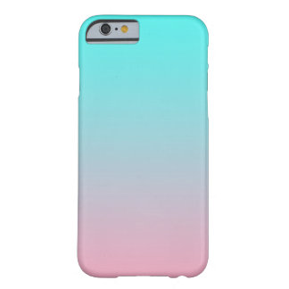 Teal to Pink Simple Gradient Blended Background Barely There iPhone 6 Case
