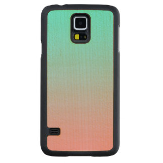Teal to Pink Simple Gradient Blended Background Maple Galaxy S5 Case
