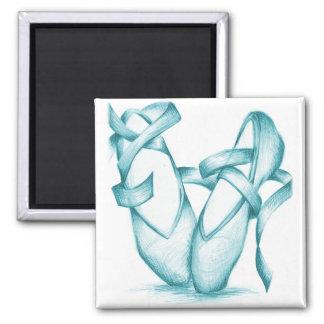 Teal Toe-Shoes Magnet