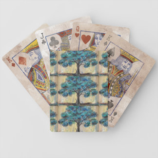 Teal Tree Bicycle Playing Cards