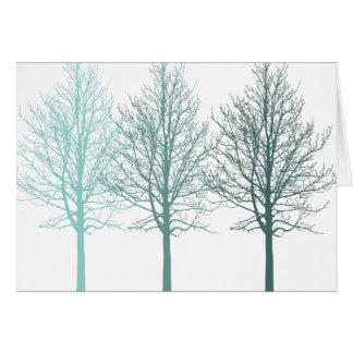 Teal Trees Greeting Card