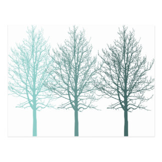 Teal Trees Post Cards