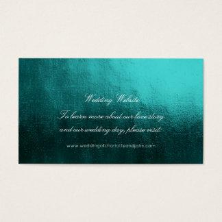 Teal Tropical GreenDelicate Script Wedding Website