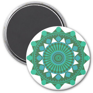 Teal, Turquoise and Blue Mandala Magnet