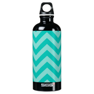 Teal Turquoise Aqua Large Chevron ZigZag Pattern SIGG Traveller 0.6L Water Bottle
