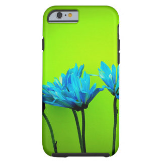 Teal Turquoise Daisies Lime Green iPhone 6 Case Tough iPhone 6 Case
