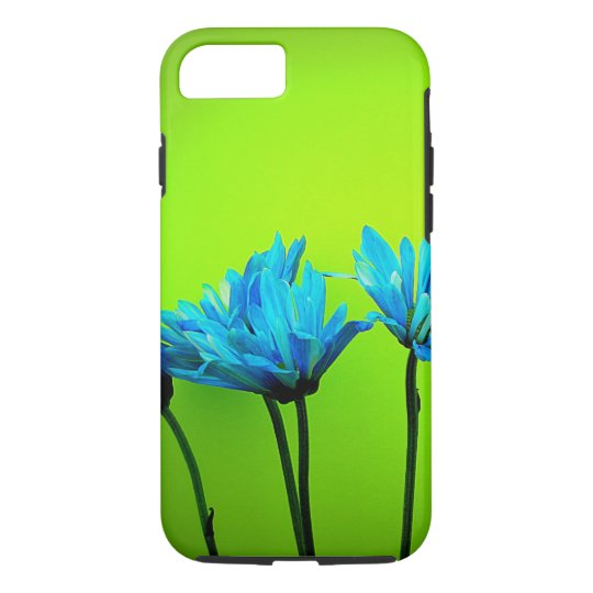 Teal Turquoise Daisies Lime Green iPhone 7 Case