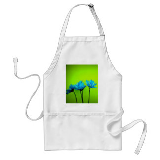 Teal Turquoise Daisies on Lime Green Flowers Gifts Aprons
