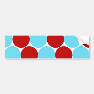 Teal Turquoise Red Big Polka Dots Pattern Gifts Bumper Stickers