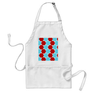Teal Turquoise Red Big Polka Dots Pattern Gifts Standard Apron