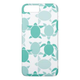Teal Turtle Pattern iPhone 8 Plus/7 Plus Case