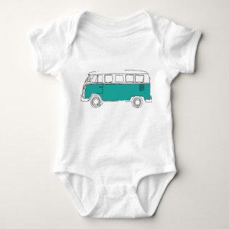 Teal Van Bodysuit - baby gift