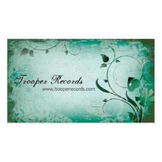 Teal Vintage Farmer's Market Leafy Business Card