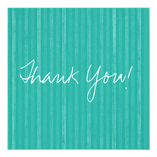 Teal Vintage Flat Thank You Cards 13 Cm X 13 Cm Square Invitation Card