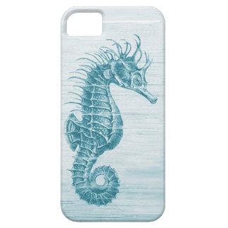 teal vintage seahorse iphone 5 case