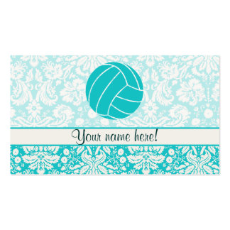 Teal Volleyball Business Card