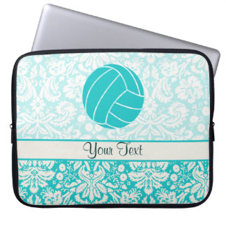 Teal Volleyball Laptop Sleeve