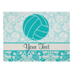 Teal Volleyball Poster