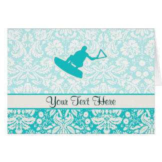 Teal Wakeboarder Greeting Card
