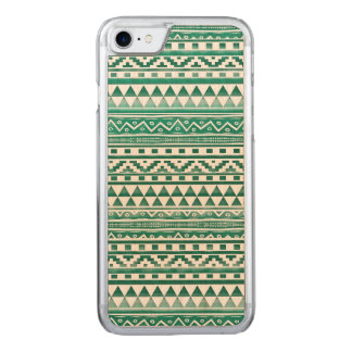 Teal Watercolor Abstract Aztec Tribal Print Pattrn Carved iPhone 8/7 Case