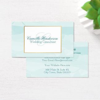 Teal Watercolor Business Cards - Elegant