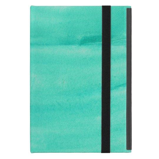 Teal Watercolor IPad Mini Case