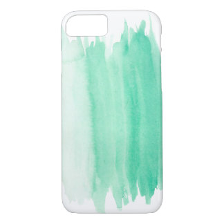 Teal Watercolor iPhone Case