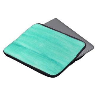 Teal Watercolor Laptop Case