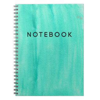 Teal Watercolor Notebook