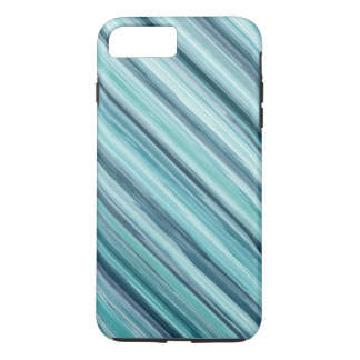 Teal Watercolor Painted Stripes (Teal, Cyan, Blue) iPhone 7 Plus Case