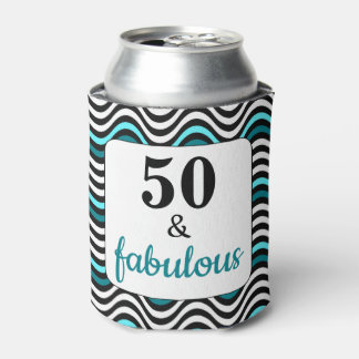 Teal Wave 50 and Fabulous Birthday Beach Party Can Cooler