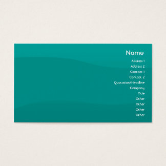 Teal Wave - Business Business Card