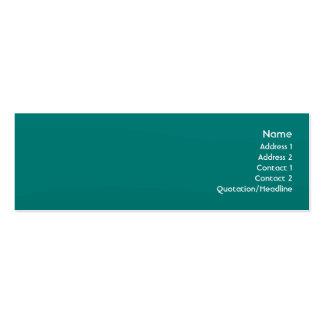Teal Wave - Skinny Business Card