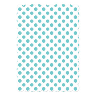 Teal White Polka Dots Pattern 13 Cm X 18 Cm Invitation Card