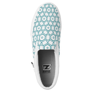 Teal White Serenity 4Klara Printed Shoes