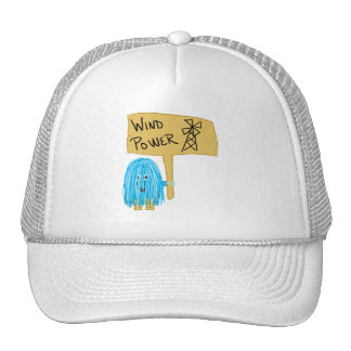 Teal wind power hats