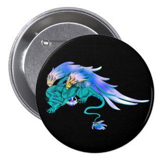 Teal Winged Drake Button