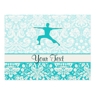 Teal Yoga Postcard